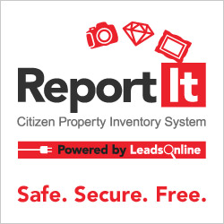 ReportIt Citizen Property Inventory System, Powered by LeadsOnline, Safe. Secure. Free.
